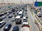 Long tailbacks on Al Khail Road on Thursday morning