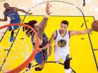 Curry shines as Warriors roll Thunder to level