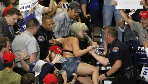 Protesters turn violent at Trump rally