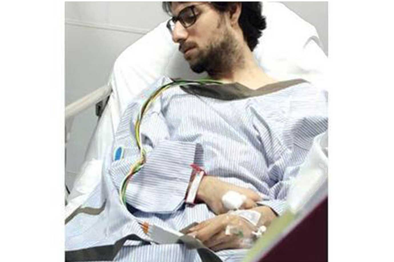 Dr Muhannad Al Zabn recuperating after the incident