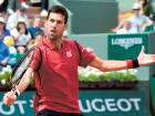 Serbia's Novak Djokovic returns the ball to Belgium's Steve Darcis during their men's second