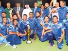 United Bank Limited, champions of the Bukhatir League, celebrate their victory after receiving the trophy from Waleed Bukhatir, Sharjah Cricket Council Vice-Chairman.