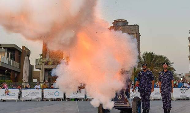 Watch cannons fired to announce iftar