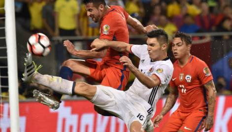 Images: Chile beat Colombia to enter Copa final