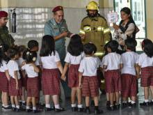 Firefighters hold safety workshop for toddlers