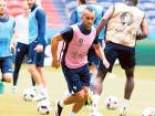 France's Dimitri Payet and his teammates during training on Saturday.