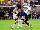United States midfielder Bobby Wood (7) breaks away in the second half against Colombia during the third place match of the 2016 Copa America Centenario soccer tournament at University of Phoenix Stadium. Columbia beat the United States 1-0.