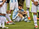 Argentina's Lionel Messi waits to receive the second place medal during the Copa America Centenario awards ceremony in East Rutherford, New Jersey, United States, on June 26, 2016.