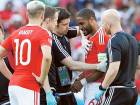 Wales' Ashley Williams receives treatment after sustaining an injury after colliding with teammate Jonny Williams in the 1-0 win over Northern Ireland on Saturday.