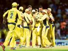 Australian players celebrate their victory at the end of the tri-nation series final against West Indies in Bridgetown on Sunday. The Australians underlined their supremacy in One Day Internationals with a58-run win.