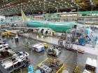 A Boeing 737-800 airplanes are on the assembly line Tuesday, Dec. 16, 2014, at Boeing's 737 assembly facility in Renton, Washington.