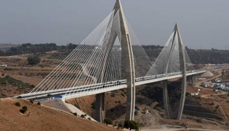 Africa's longest cable-stayed bridge