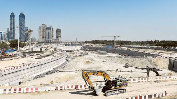 Dubai Water Canal work in final stage (source: Gulf News)