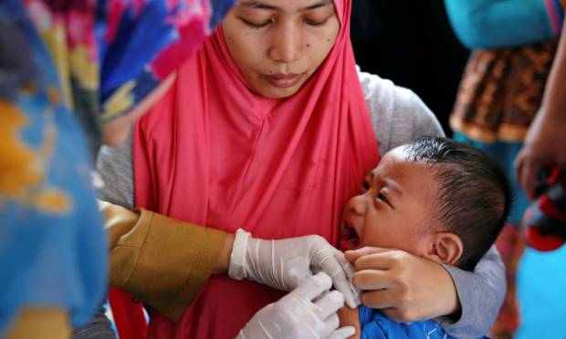 Children in East Jakarta given fake vaccines