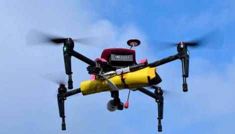 'Helper' drone helps sea rescuers