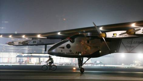 In pictures: Solar Impulse 2 lands in Abu Dhabi