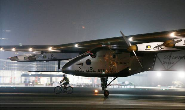 Pictures: Solar Impulse 2 back home
