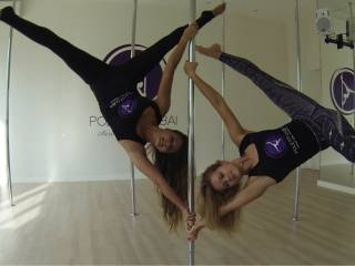 Aerial fun at Pole Fit in Dubai