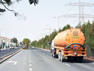 Sewage trucks in posh area anger residents