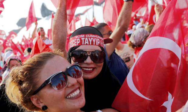 In pictures: Over a million rally for Erdogan