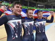 Britain storm to team sprint gold