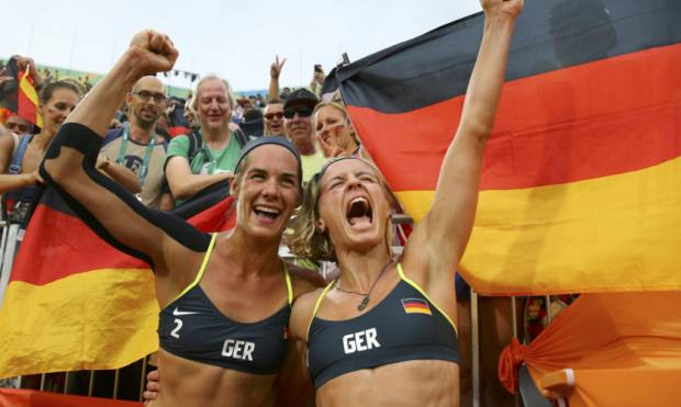 Germany wins women's beach volleyball gold