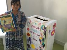 Book donation campaign for refugee children