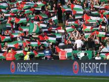 Palestinians hail Celtic fans' support