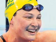 Australia's Campbell swam injured at Olympics