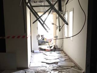 Inside destroyed flat in Al Khail Gate