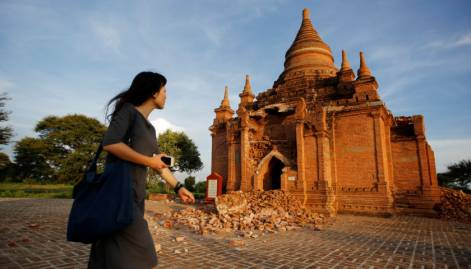Scores of Bagan pagodas damaged in quake