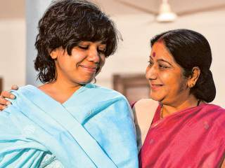 Sushma Swaraj hailed as Supermum of State