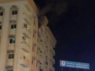 Family rescued in Sharjah fire drama