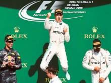 Rosberg happy with a 'great weekend' in Belgium