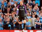 Joe Hart looks to the turf during Manchester City's Champions League qualifying play-off second leg clash against Steaua Bucharest at Etihad Stadium earlier this month.