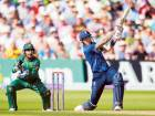 Alex Hales in action during the third One Day International against Pakistan at Trent Bridge on Tuesday.