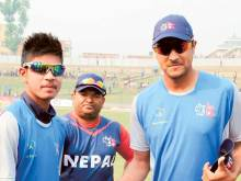 Clarke takes young Nepalese spinner under wing
