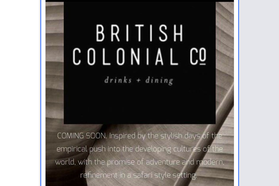 Outrage at restaurant's homage to British empire