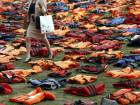 'Lifejacket Graveyard' in London mark UN Summit