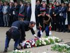 French President Francois Hollande lays a wreath of flowers during a ceremony for victims of terrorism in Paris, Monday Sept.19, 2016. A ceremony in memory of all victims of terror attacks is being held on Monday in Paris as France is still under a state of emergency.
