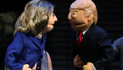 Trump vs Clinton, first debate in pictures