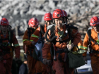 Rescuers prepare to go down into the coal mine after a deadly blast in Shizuishan, Ningxia.