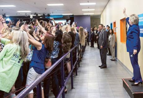 Those taking Hillary-selfies offer hope