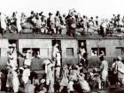 Muslim refugees crowd a train leaving New Delhi for Pakistan in September 1947