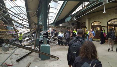 New Jersey train crash aftermath in pictures