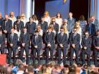 Members of the European Ryder Cup team stand for a moment of silence as a tribute to Arnold Palmer during the opening ceremony of the 41st Ryder Cup at Hazeltine National Golf Course in Chaska, Minnesota on Thursday.