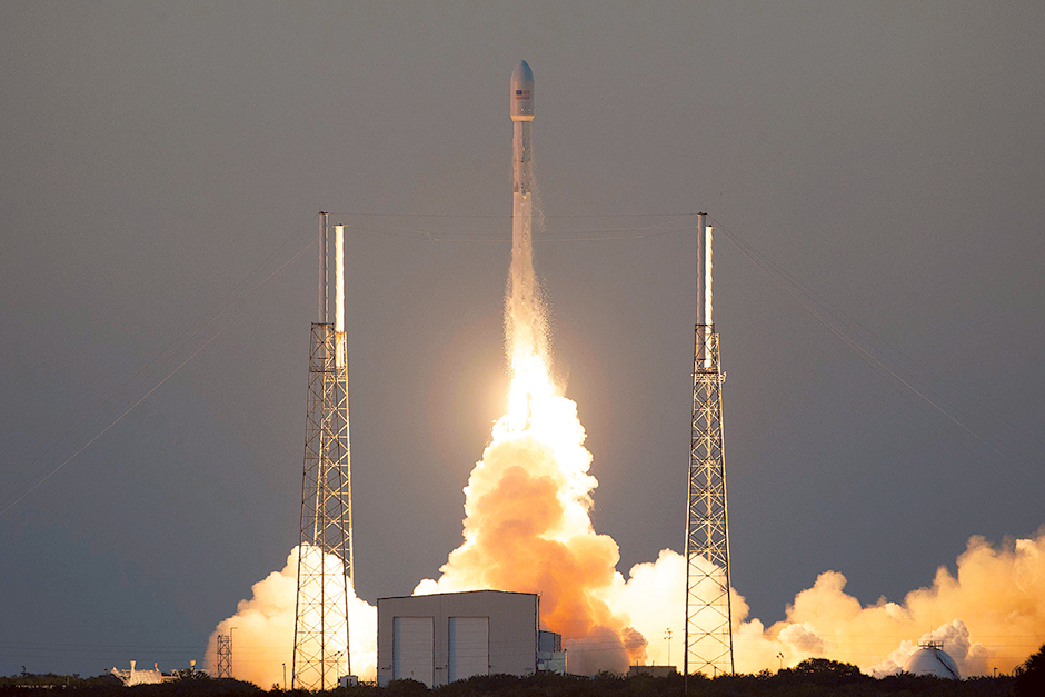 The unmanned Falcon 9 rocket,