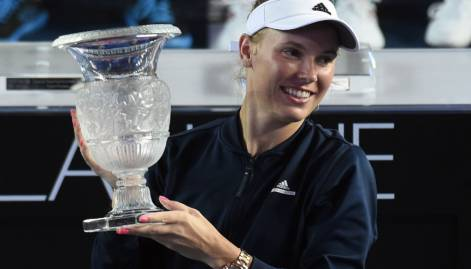 Pictures: Wozniacki wins Hong Kong Open