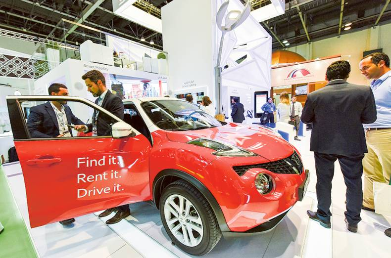 a-smart-mobility-car-on-display-at-the-rta-stand-during-the-36th-gitex-technology-week
