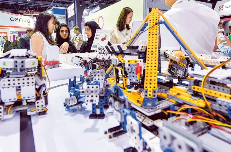 products-on-display-at-the-korea-robot-pavilion-during-the-36th-gitex-technology-week